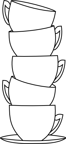 Drawing cups. Beyond the fringe blank