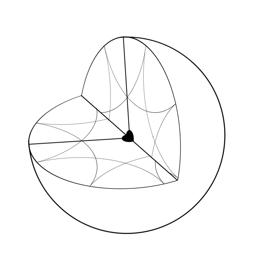 Drawing cut. Cross diagram of the