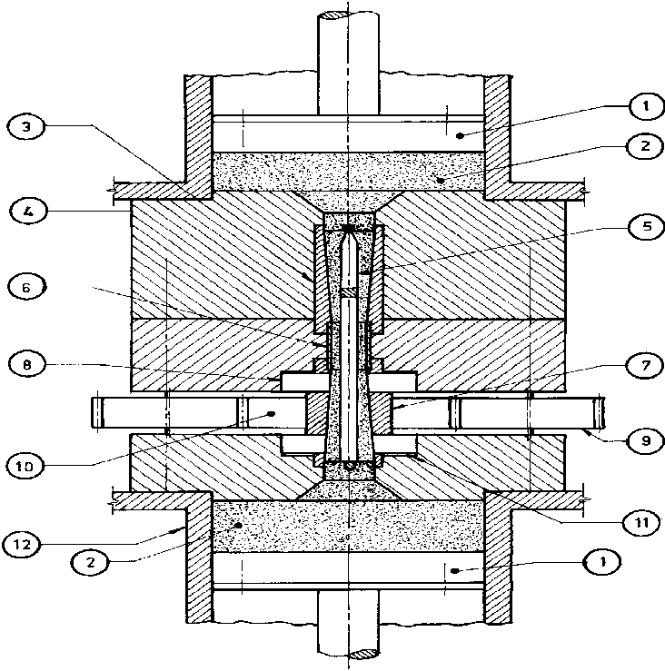 Rod drawing production. Schematic illustration of the