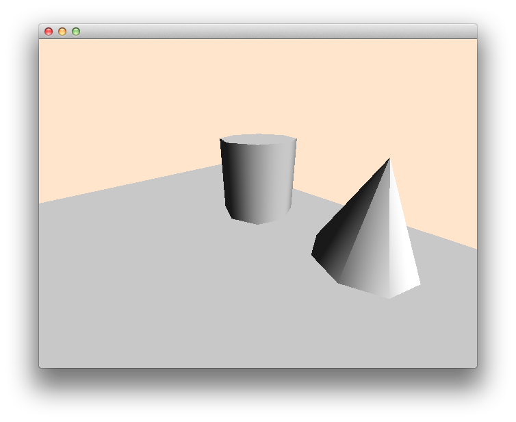 Drawing cylinder shaded. Opengl low polygon cone