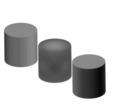 Drawing cylinder shaded. How to solve blender