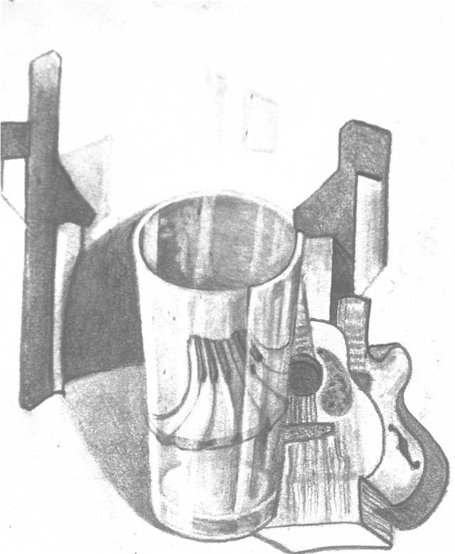 Drawing cylinder still life. Charlie hubbard cover