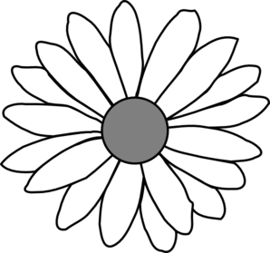 Vector daisy. Outline drawing at getdrawings