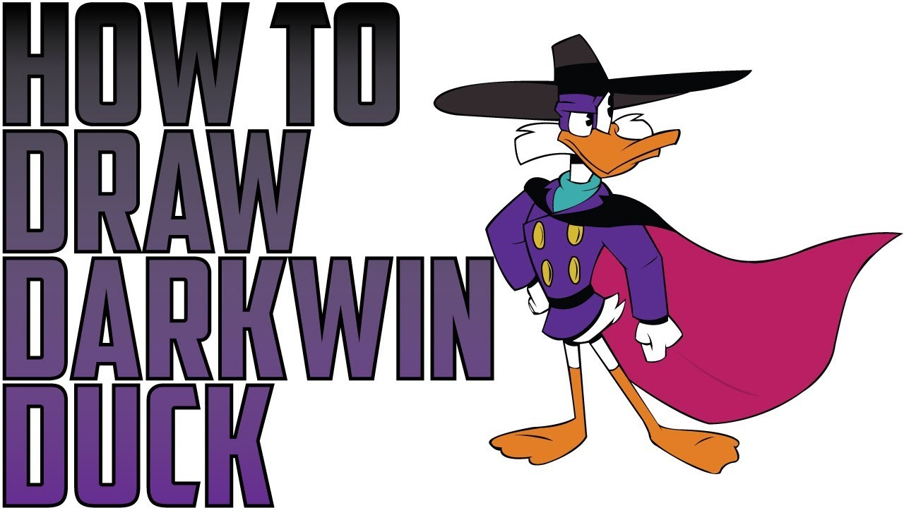 Drawing darkwing duck. How to draw drake