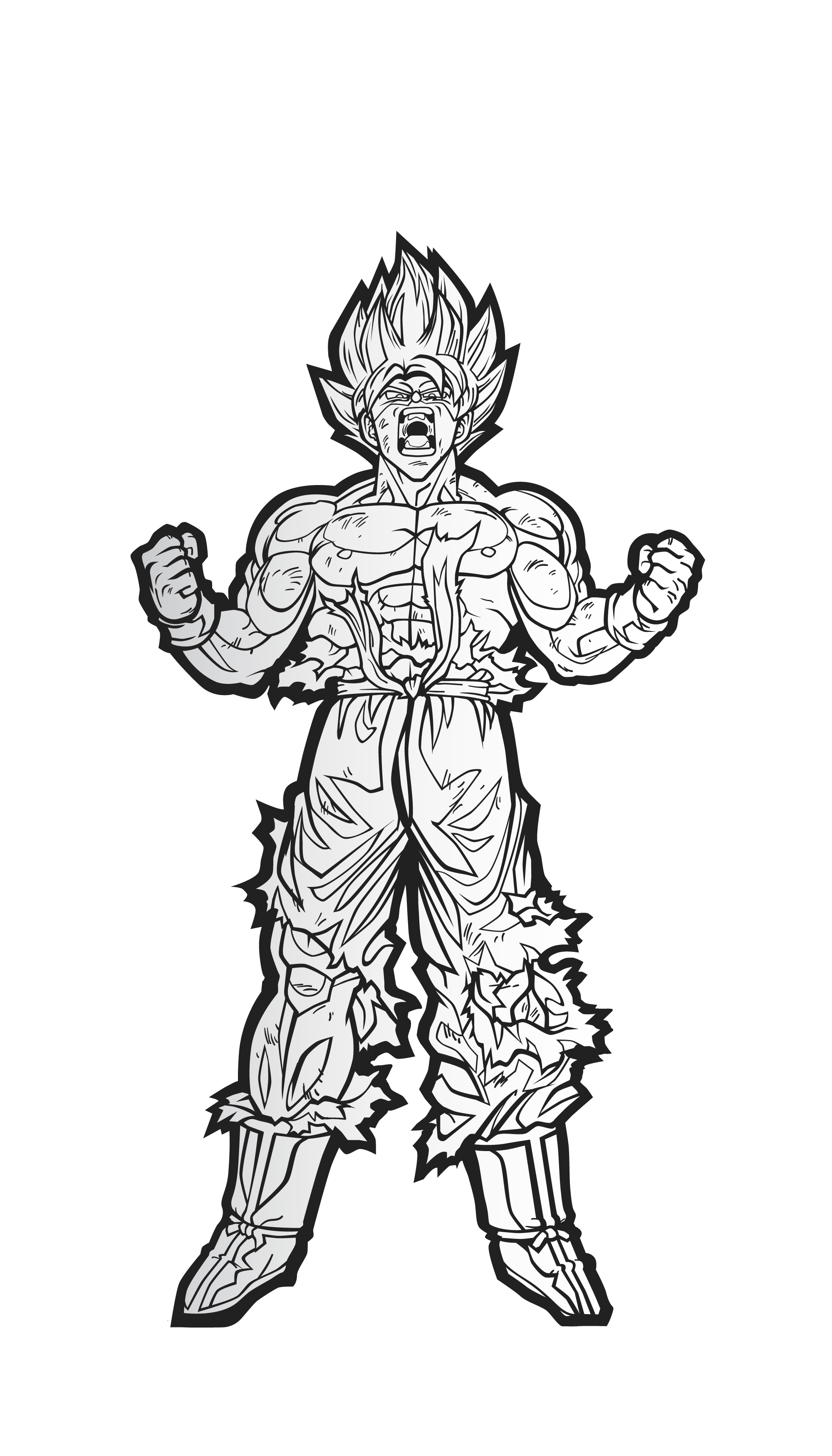 Drawing dbz black and white. Dragon ball z figpin