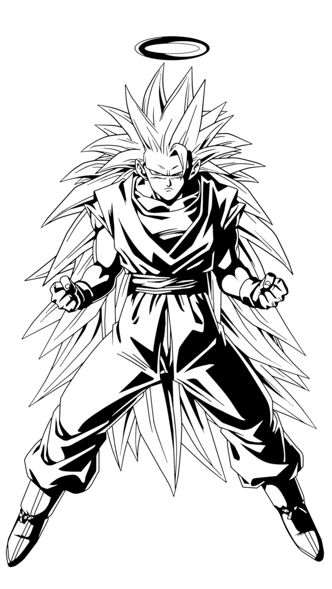Drawing dbz black and white. Goku ssj by pedronex