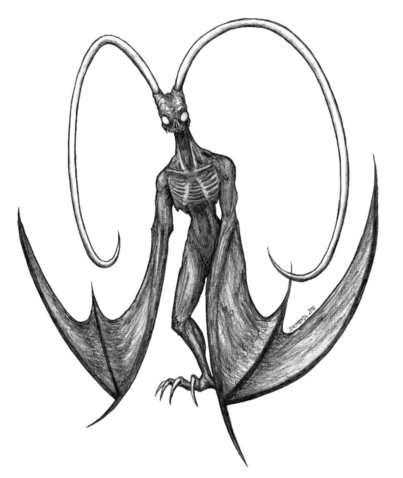 Drawing demons. Flying demon by dememty