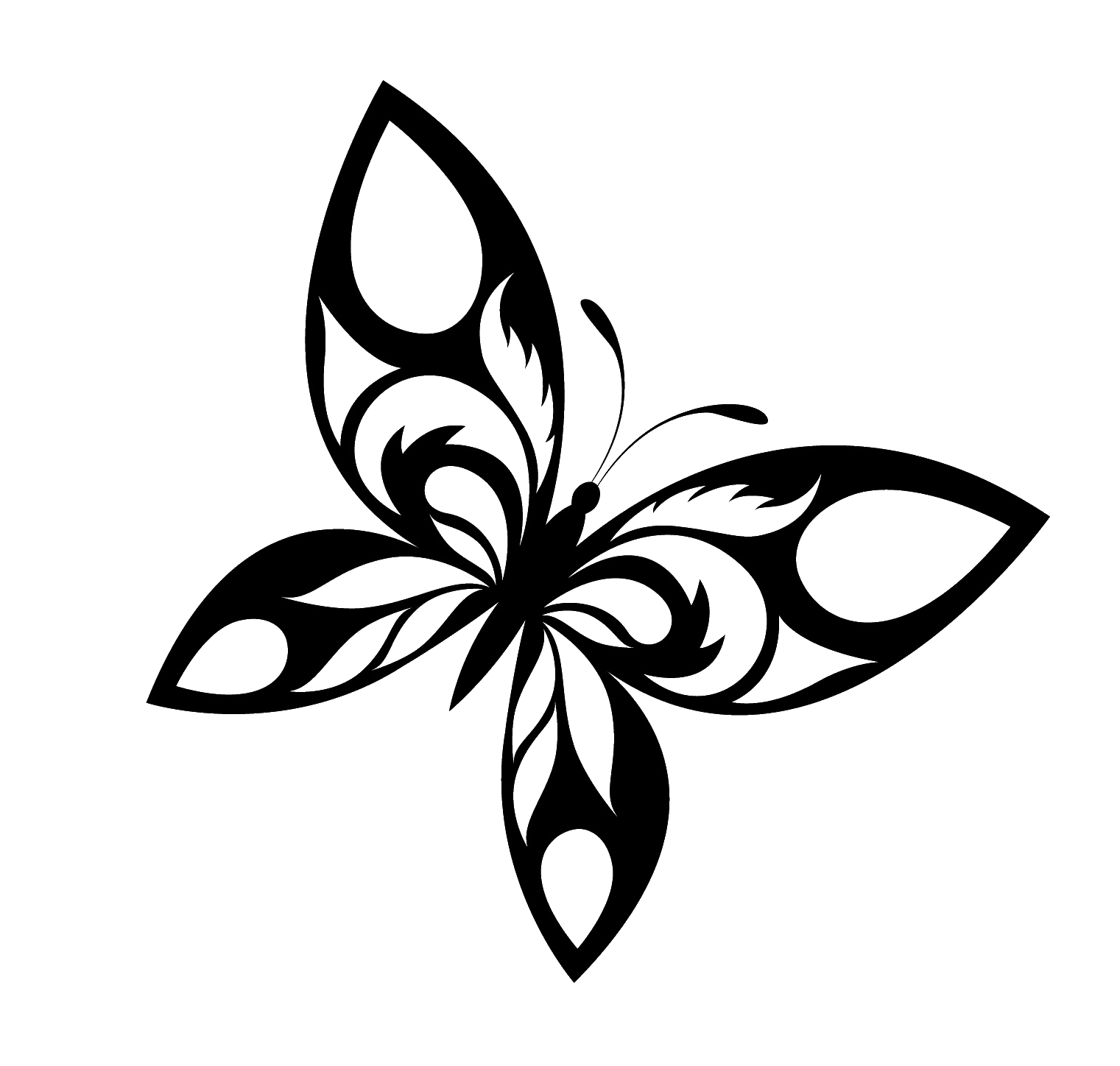 Drawing desings butterfly. Designs black and white