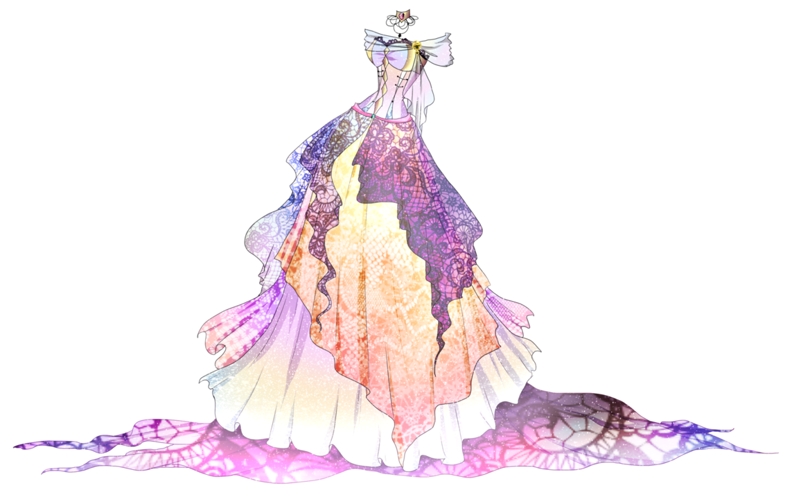 Robes drawing anime. Adoptable ballgown closed auction
