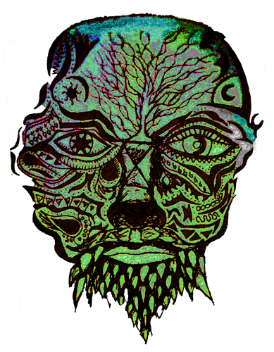 Drawing trippy head. Home rare mind designs