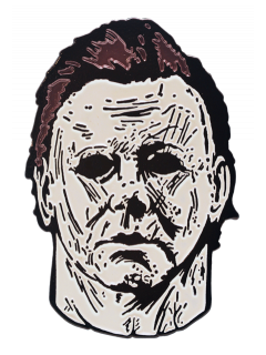 Michael myers mask enamel. Drawing detail halloween png transparent library