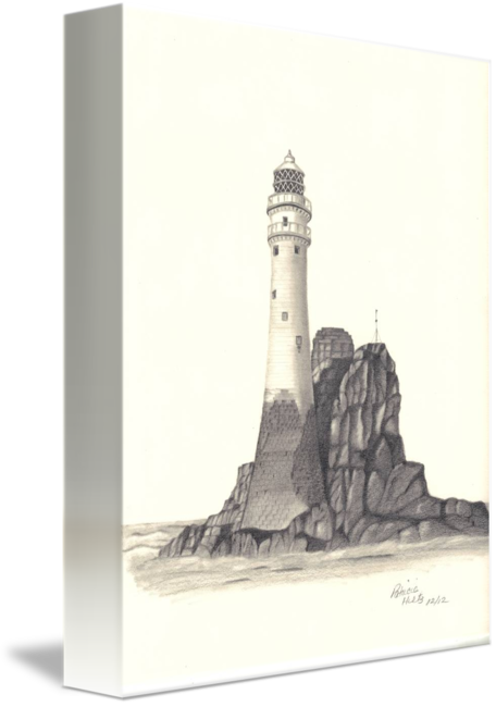 Drawing detail lighthouse. Ireland by patricia hiltz