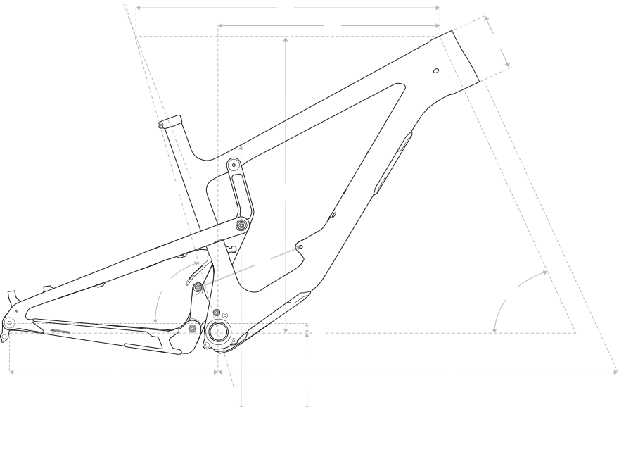 Drawing geometry mountain. Nomad santa cruz bicycles