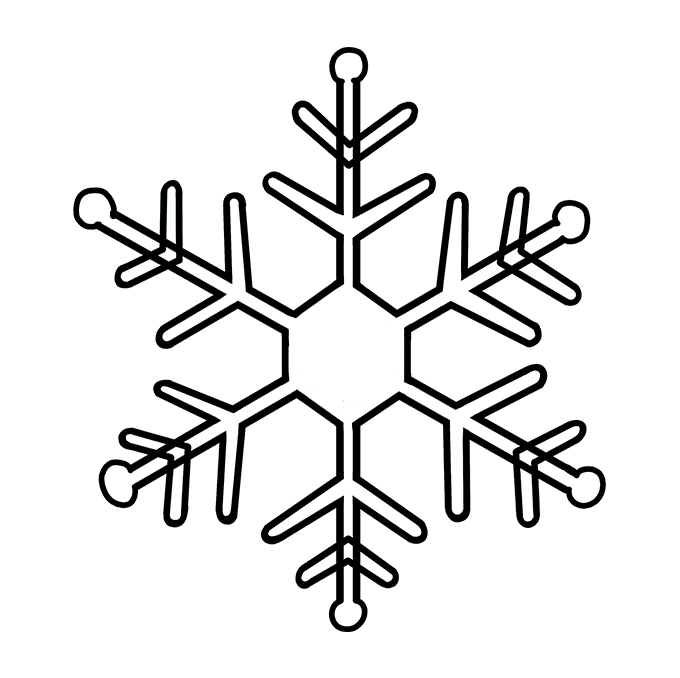 Drawing details snowflake. How to draw a
