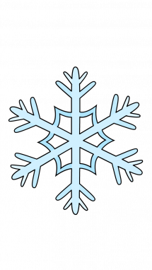 Drawing detail snowflake. How to draw winter