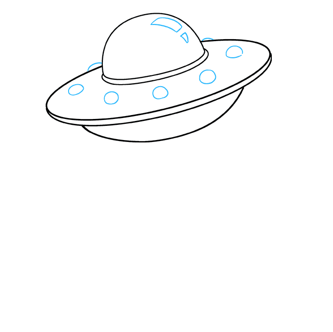 Drawing detail ufo. How to draw a