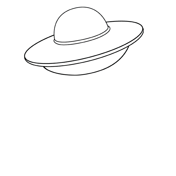 Spacecraft drawing ufo. How to draw a