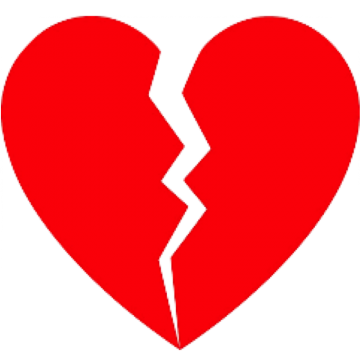 Drawing details broken heart. Png vectors psd and