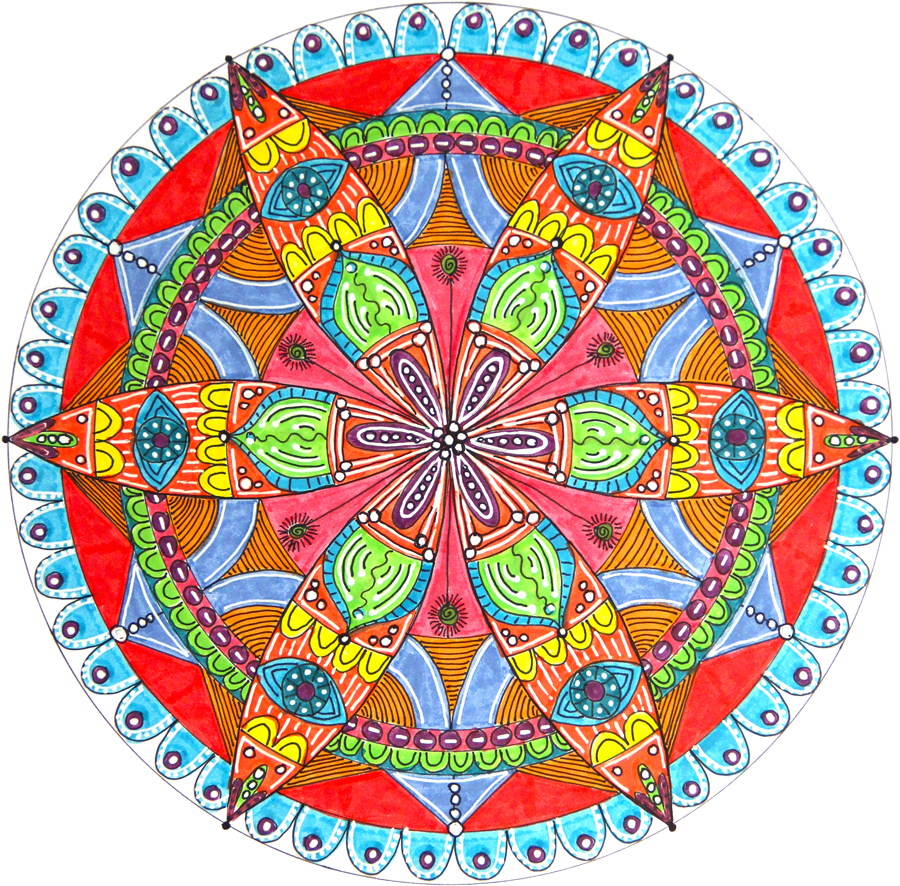 Drawing details mandala. How to draw a