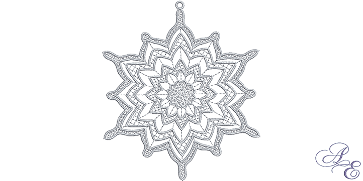Drawing details snowflake. Art of embroidery fcsnowflakepngfit