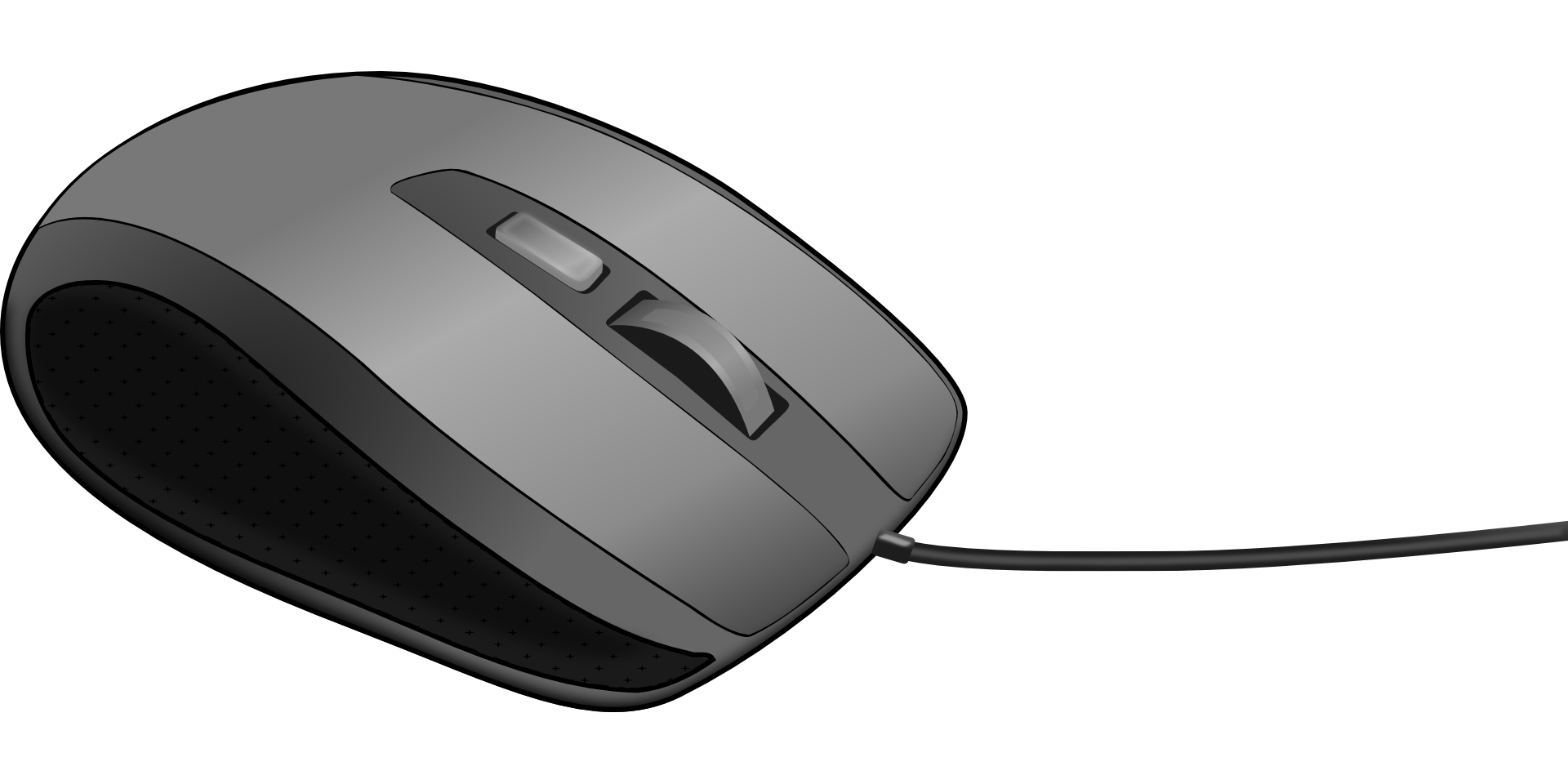 Drawing device input. Computer mouse white black