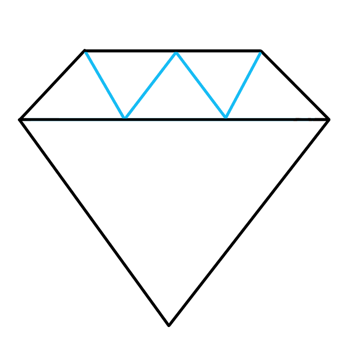 Drawing diamond. How to draw a