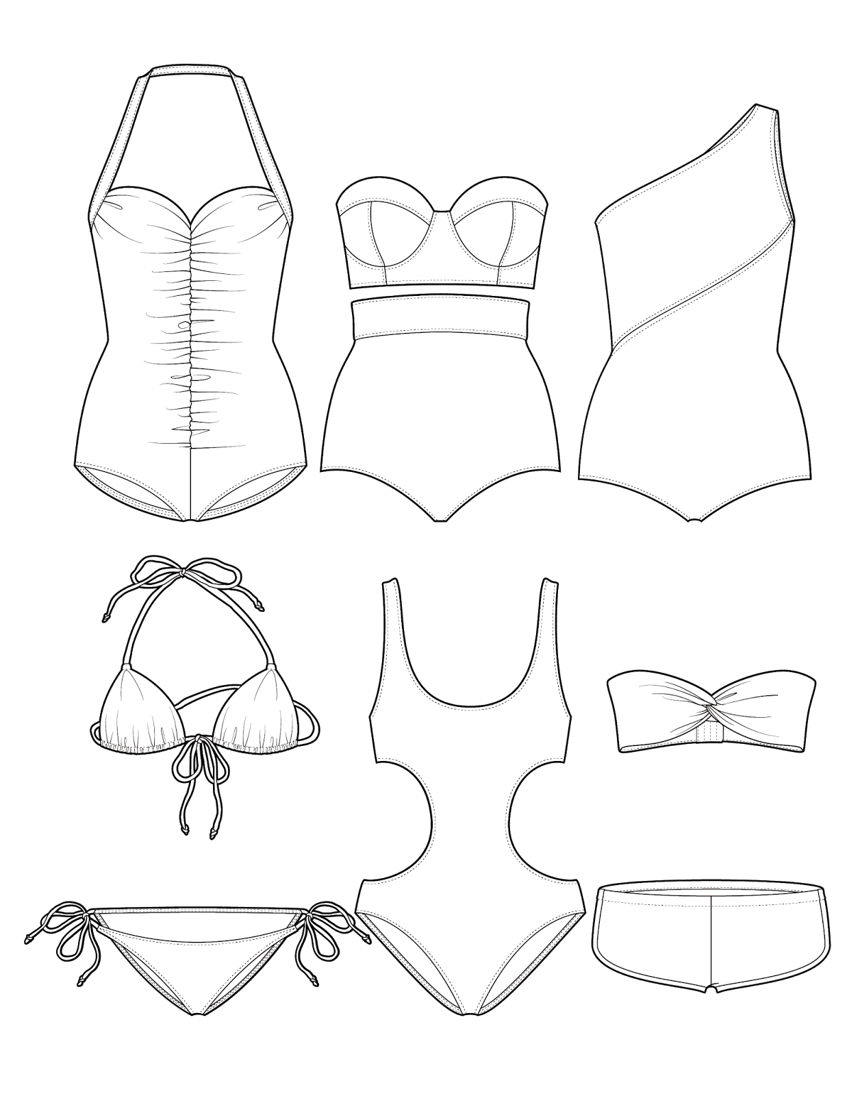 Drawing diary apparel. The spinsterhood diaries swimsuit