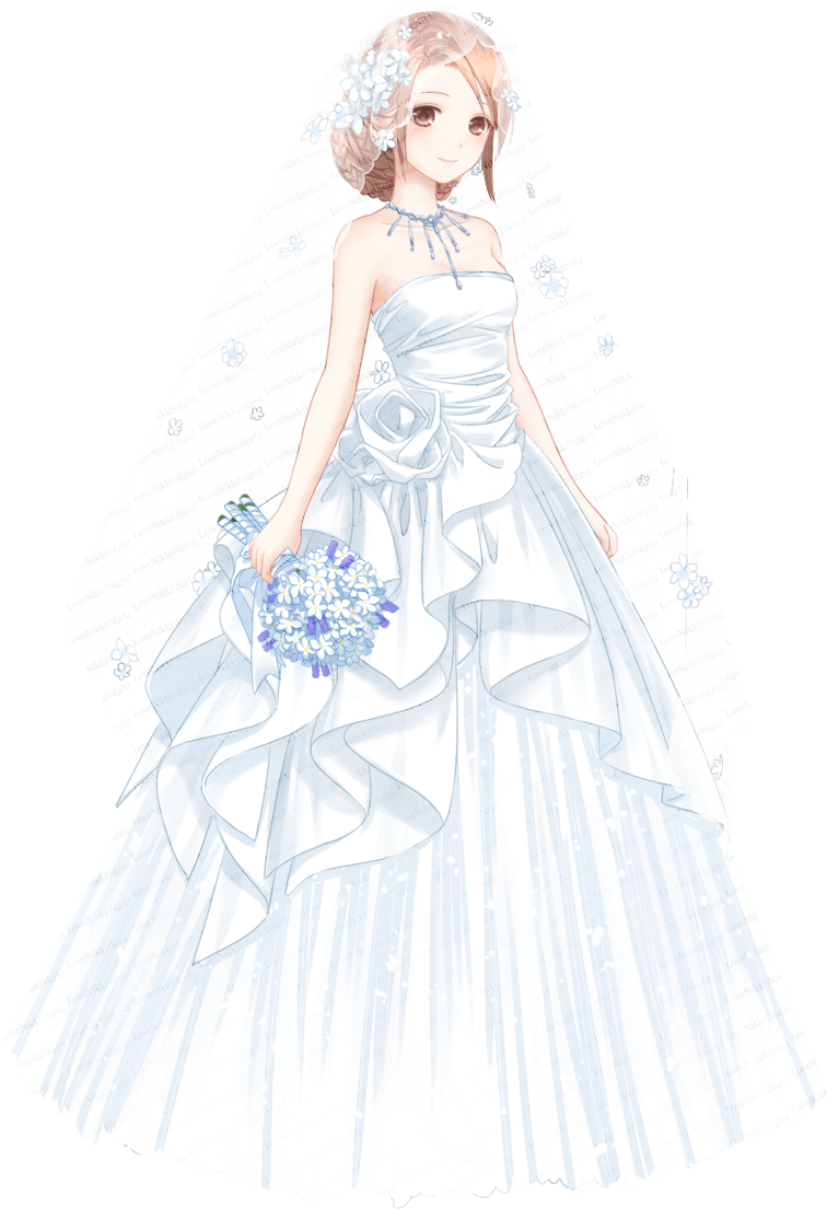 Drawing diary couture dress. Realized dream love nikki