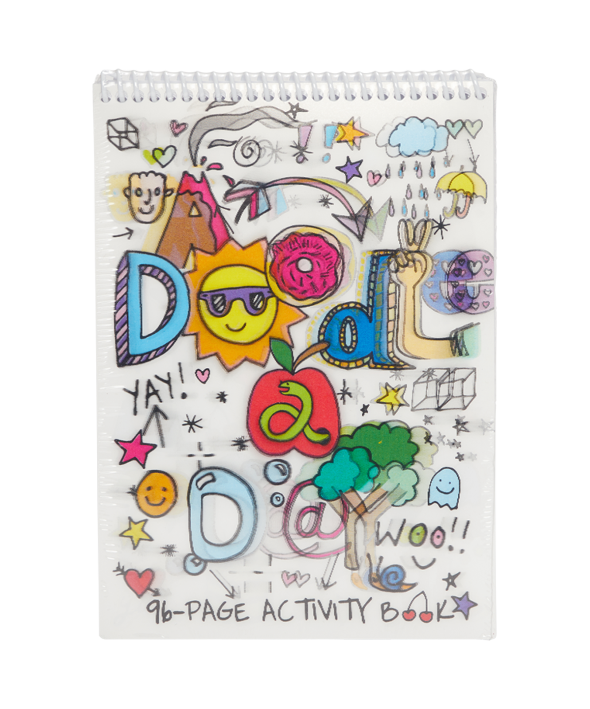 Drawing diary doodle. A day activity book