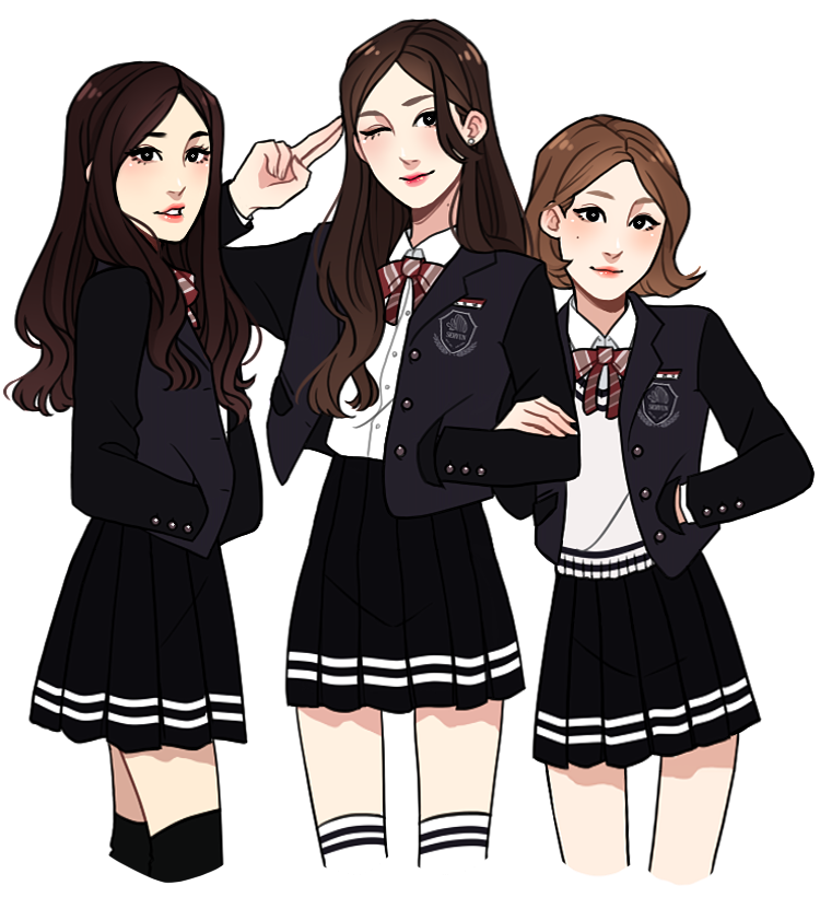 Drawing diary girl squad. Tcfhs by hyeoii outfit