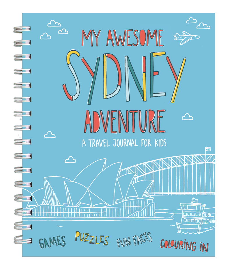 Drawing diary travel journal. My awesome adventure a