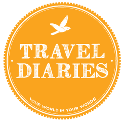 Drawing diary travel journal. Diaries make your online