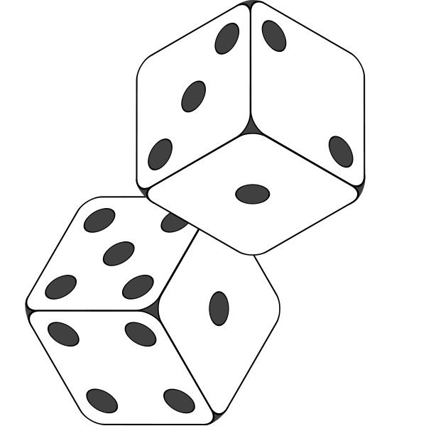 drawing dice