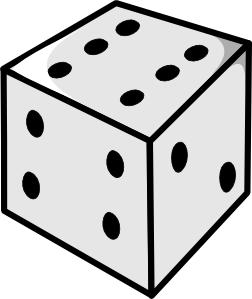 Drawing dice black and white. Clip art at clker