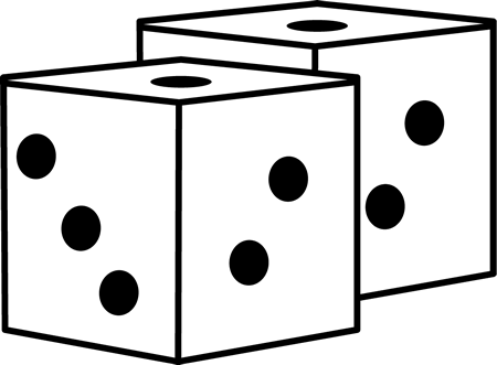 Drawing dice cute. Collection of free gamed