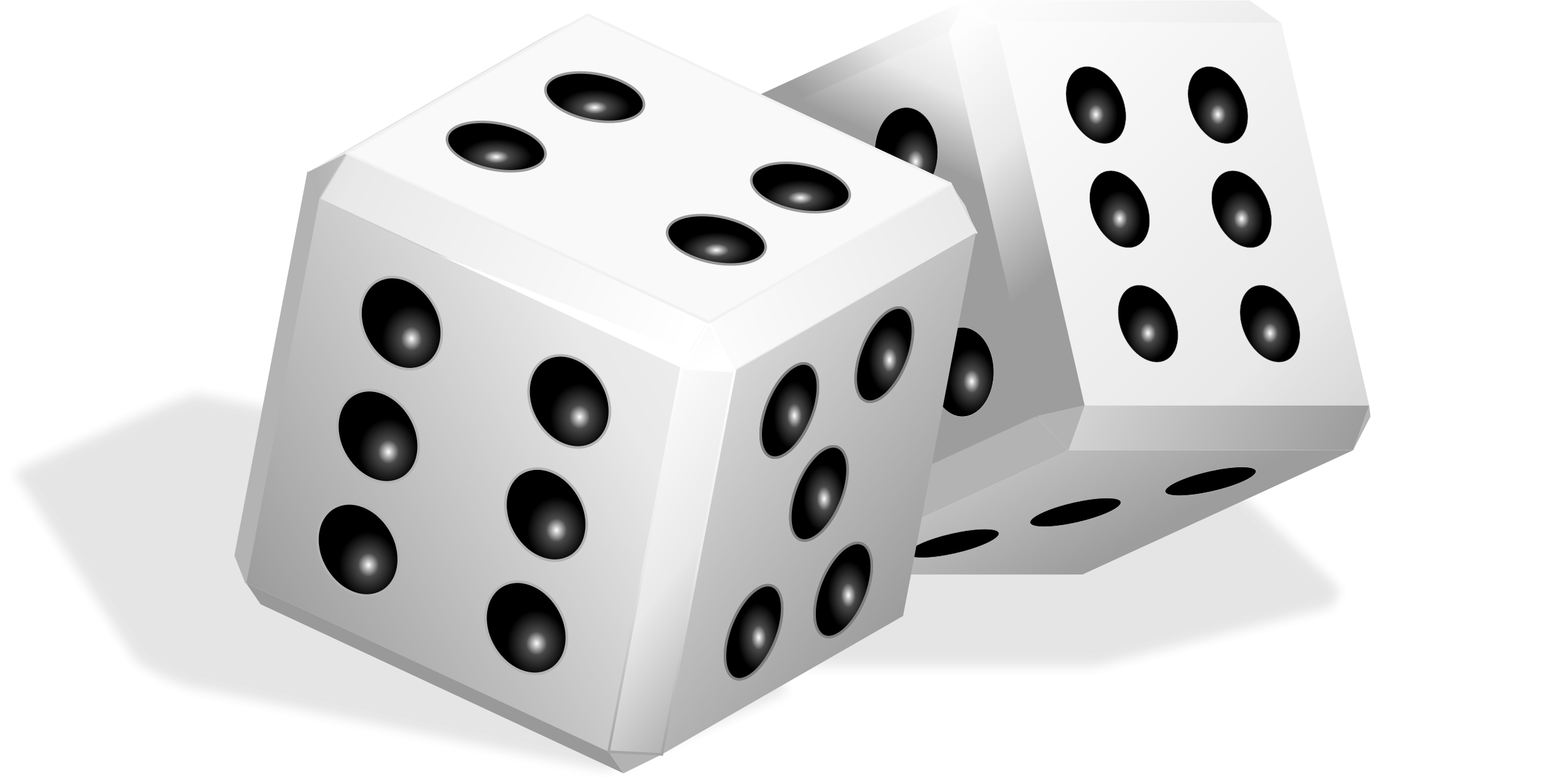 Drawing dice pair. Banner free download