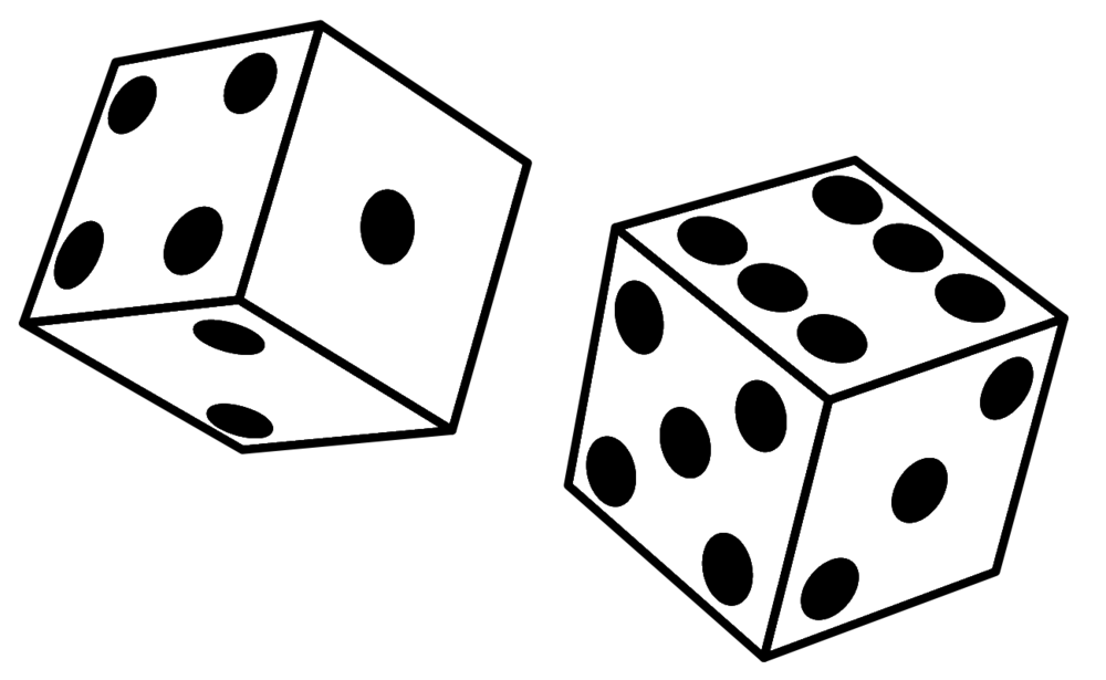 Drawing dice pencil. Banner free download