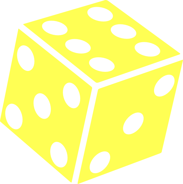 Drawing dice six dot. Sided clip art at