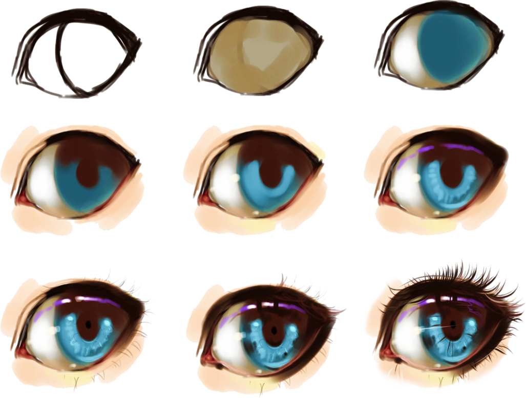 Drawing marker eye. Some help for eyes