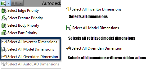 Drawing dimension inventor. Select all dimensions to
