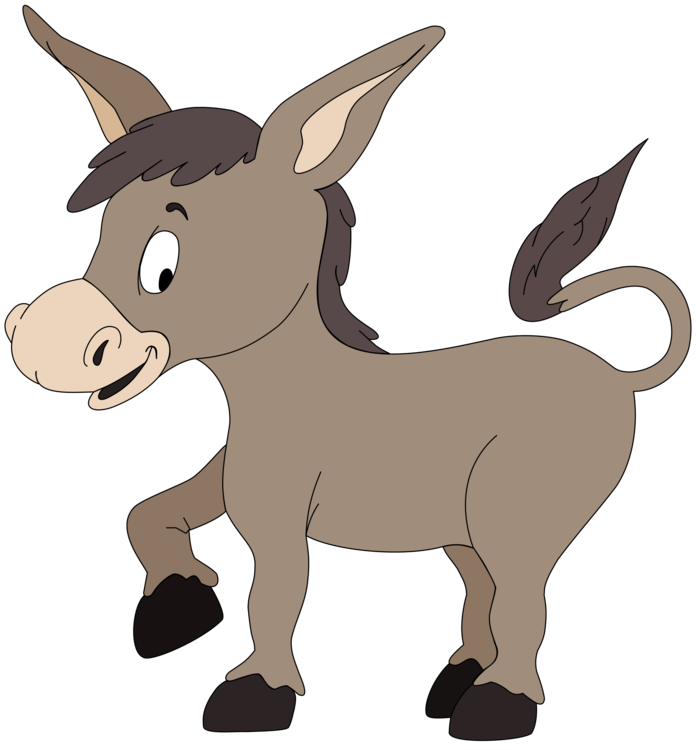 Drawing donkey cartoon. Animation free commercial clipart