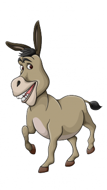 Drawing donkey easy. How to draw a