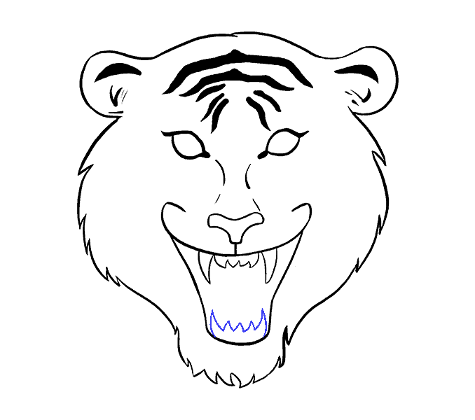 Drawing donkey face. Collection of free download