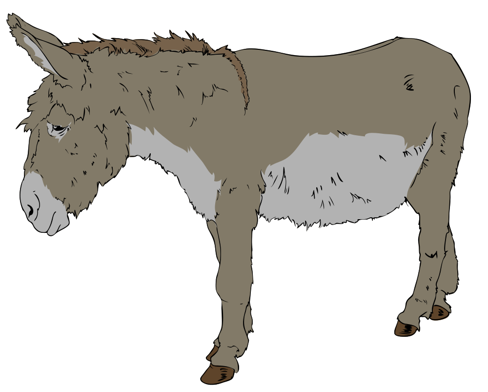 Drawing donkey sad. Clipart frames illustrations hd