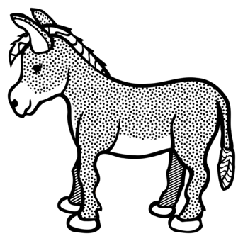 Drawing donkey old. Logo download cartoon silhouette