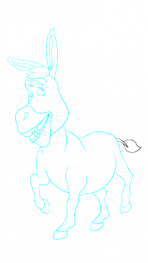 Drawing donkey step by. Easy at getdrawings com