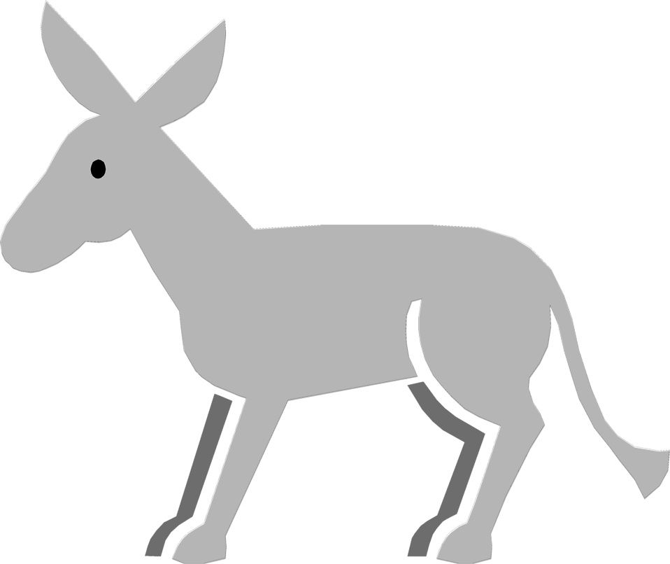 Drawing donkey transparent background. Collection of clipart