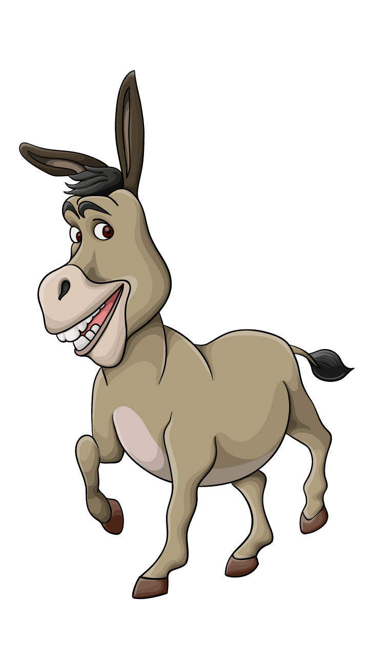 Drawing donkey. How to draw a