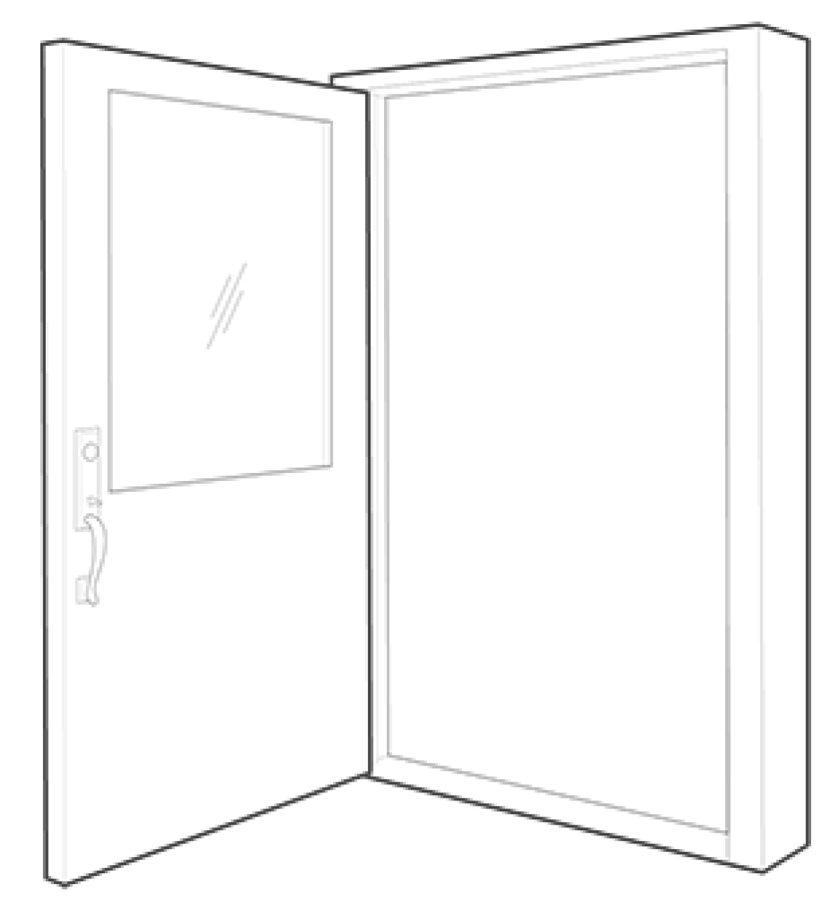 Single swing northwest door. Drawing doors svg freeuse library