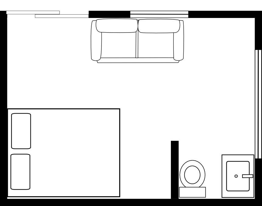 Drawing door classroom. Floor plans assembly diagrams
